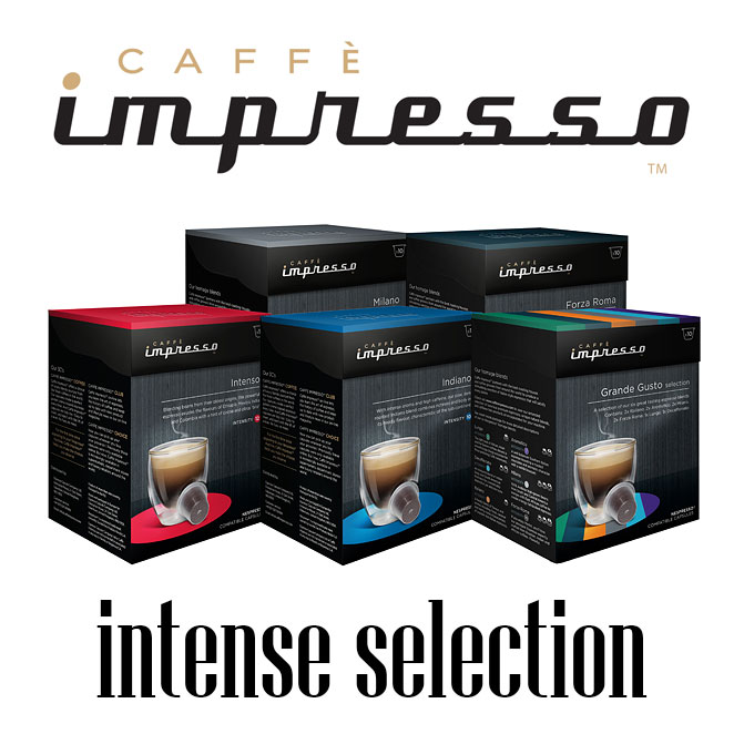 intense selection of caff impresso 39 s nespresso compatible capsules. Black Bedroom Furniture Sets. Home Design Ideas