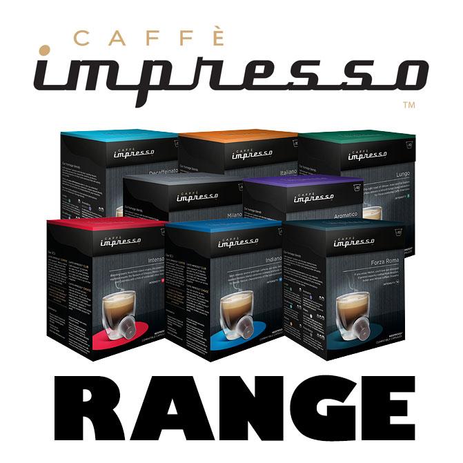 Range of caff impresso 39 s nespresso compatible capsules - Range capsule nespresso mural ...