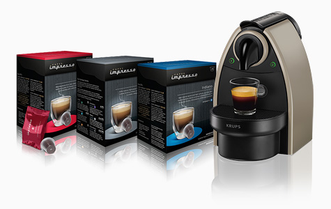 nespresso compatible capsules & nespresso essenza machine