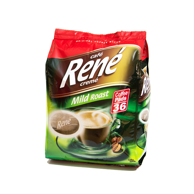 senseo coffee pads by cafe rene mild roast. Black Bedroom Furniture Sets. Home Design Ideas