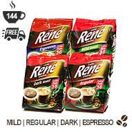 Cafe Rene Senseo Pods - Coffee Selection