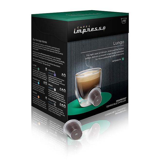 Caff impresso lungo 60x compatible nespresso coffee for Porte 60 capsules nespresso