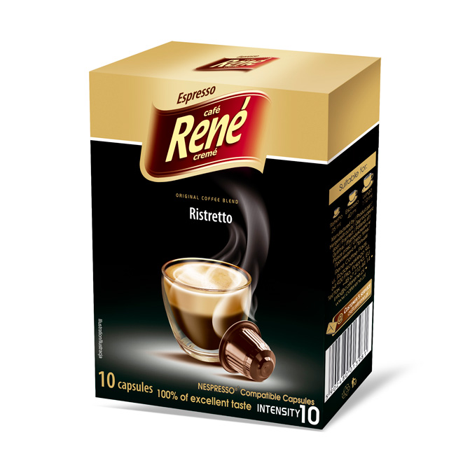 cafe rene ristretto coffee capsules for nespresso. Black Bedroom Furniture Sets. Home Design Ideas