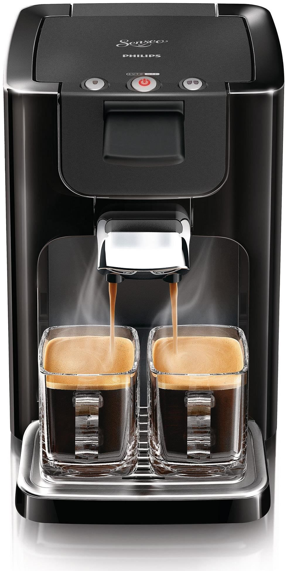 philips senseo quadrante coffee pod machine hd7865 60 black. Black Bedroom Furniture Sets. Home Design Ideas