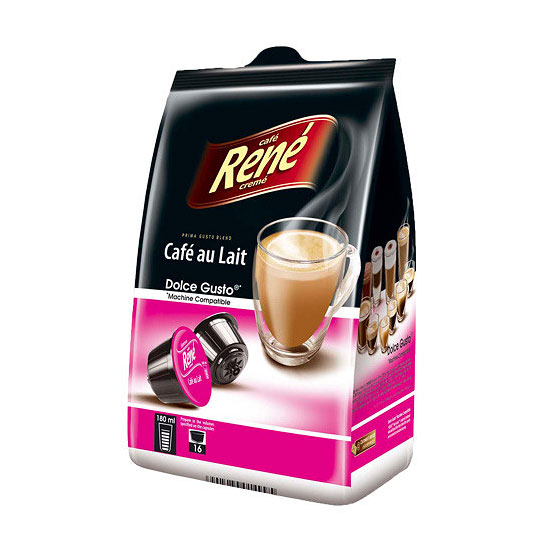 Best Coffee Maker Cafe Au Lait : Dolce Gusto Cafe Au Lait - Compatible Pods by Cafe Rene